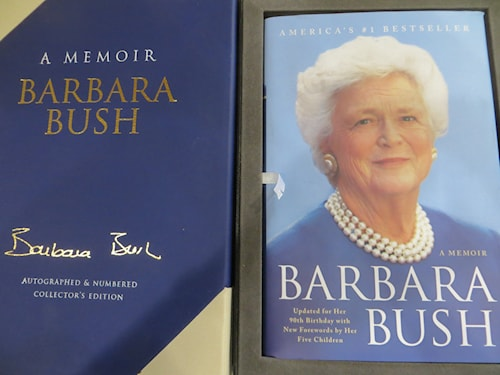 Barbara Bush A Memoir Autographed Collector S Edition