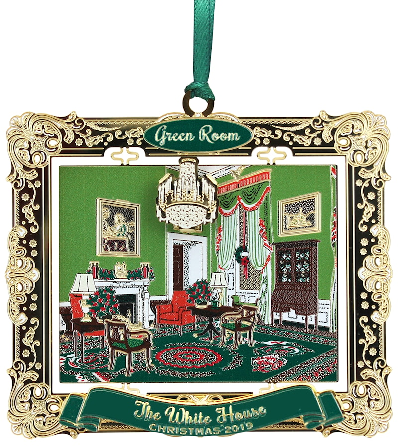2019 White House Holidays Ornament - Green Room