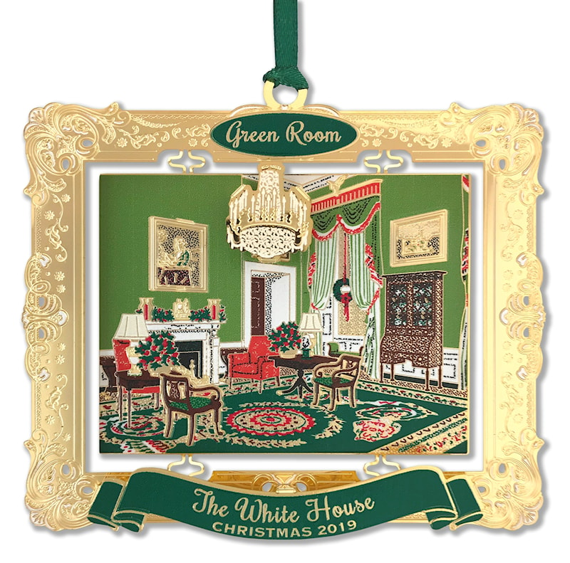 2019 White House Christmas.2019 White House Holidays Annual Ornament Green Room
