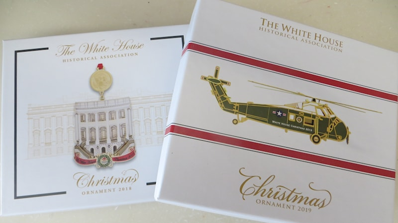 2019 White House Christmas Card.Set Of 2019 And 2018 Official White House Historical