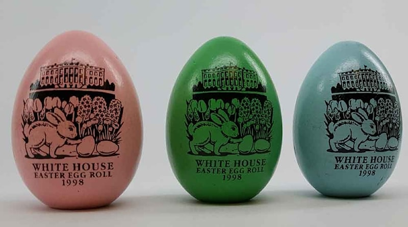 1998 Clinton White House One Easter Eggs Assorted Colors