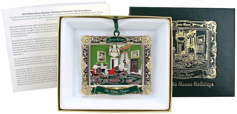 2019 White House Christmas Card.2019 White House Holidays Annual Ornament Green Room