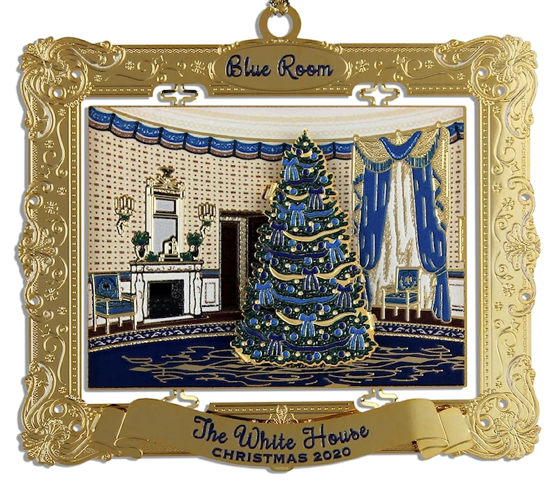 White House Gold Christmas Ornaments 2020 2020 Annual White House Holidays Christmas Ornament: The Blue Room