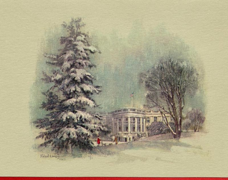 1965 Lyndon Johnson Reciprocal Christmas Card